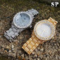 Men's Iced out Luxury Rapper's Lab Diamond Metal Band Dress Clubbing wrist Watch