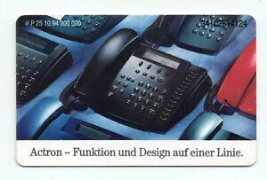 P 25; 10.94, Telefon Actron; 12 DM, voll