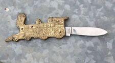 Vintage TAYLOR CUTLERY Folding POCKET KNIFE Train Railroad JAPAN SURGICAL Old