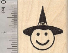Halloween Witch Emoji Rubber Stamp, Smiling Face E29204 WM
