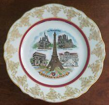 Decorative Souvenir Collector Plate- Paris - Porcelain Limoges France