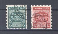 SBZ Mi.Nr. 124-25 x, Freimarken 1945 gestempelt, geprüft BPP (31454)