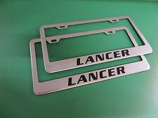 "(2)"" LANCER "" Stainless Steel license plate frame"