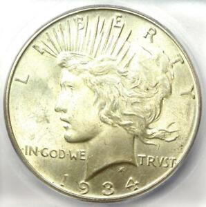1934-D Peace Silver Dollar $1 Coin - Certified ICG MS64 (BU UNC) - $455 Value!