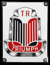 Triumph Porcelain Advertising Sign - Black & Red