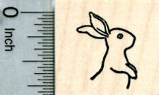 Tiny Bunny Rabbit Rubber Stamp, Upright Facing Right A31809 WM