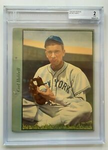 1938 Dixie Premiums CARL HUBBEL #4 ~ BGS 2 Good / Becket Certified