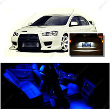 For Mitsubishi Lancer 2008-2015 Blue LED Interior Kit + White License Light LED