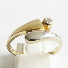 Ring Gold 375 0,045 ct. Brillant Goldringe Brillantringe d 9 kt. Diamantringe
