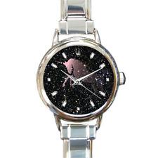 Fading Unicorn Stars Italian Charm Watch Bracelet Present Gift Analog Quartz