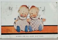 Mabel Lucie Attwell WOMEN ARE ALL ALIKE, OLD CHAP!  Adorable Babies Postcard K9