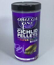 Omega One Large Cichlid Pellets + Super Color (9oz sinking)