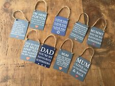 Mini Metal sign plaqu Novelty Hanging Funny Sentiment Loving Gift mum dad friend