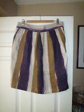HOBBS Size 14 Quality Purple Stripe Lined Pencil Skirt