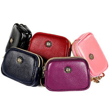 EcoVision Coin Pouch with Card Holder Pocket Mini Zipper Change Purse Wallet Genuine Leather Coin Purse Keychain for Women