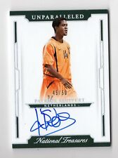 PATRICK KLUIVERT 2018 PANINI NATIONAL TREASURES UNPARALLELED AUTO #/50 (HOLLAND