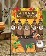 NEW Toland - Turkey Photobomb - Funny Happy Thanksgiving Selfie Garden Flag