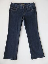 Women's Ann Taylor Modern Fit Lindsay Dark Blue Stretch Denim Jeans 6P X 28""