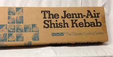 """JENN-AIR 4 SHISH KEBAB 21.5"""" SKEWERS A320 WOOD HANDLES STEEL SHAFTS BLADES FORKS"""