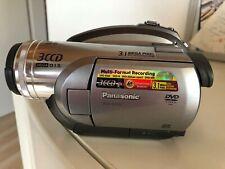 Panasonic DVD Video Camcorder, VDR-D310, viel Zubehör, silber