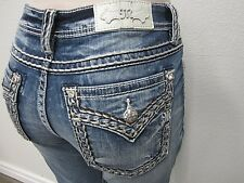 NWT Miss Me Womens Jeans Skinny Embroidery Medium Wash M5014S252 Size W31 x L30