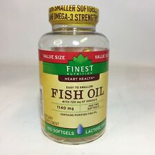 Finest Nutrition Fish Oil 1140 mg with 720 mg Omega-3 180 Softgels 2/2021