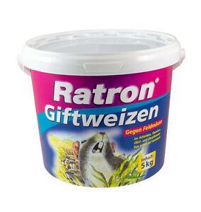 Ratron Giftweizen 5 kg < 0,0029% Mäusegift Rattenköder Rattengift Weizenköder