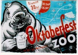 Original vintage poster OCTOBERFEST BEER SEE LION CHEERS c.1950