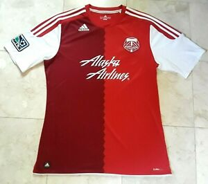 Adidas Portland Timbers Rose City Away MLS Jersey Men's Large Red ClimaCool