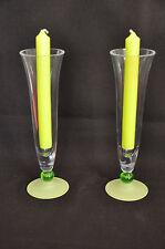 Vases ou photophores en verre épais pour dîner romantique