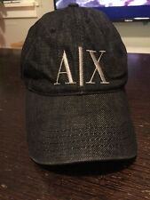 Embroidered A|X Armani Exchange AX Logo Adjustable Denim Baseball Cap - Genuine!