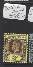 LEEWARD ISLANDS (P1610B)  KGV  3D    SG 51A   MNH