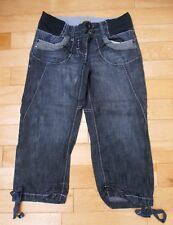 New Next Maternity Blue Cropped Denim Jeans Sz UK 8