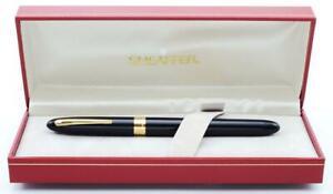 Sheaffer Crest (Reissue) #591 Fountain Pen - Black GT, 18k Medium (New in Box)