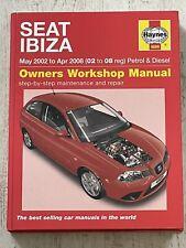 Haynes Manual 4889 - SEAT Ibiza, 2003 to 2008, petrol & diesel