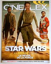 Magazine Back Issue Cineplex December 2015 Stars Wars Le Réveil de la Force