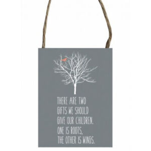 There are Two Gifts Quotation Grey Metal Hanging Sign Plaque Ladies Gifts