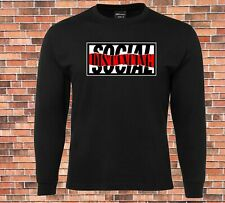 Social distancing Long Sleeve T-shirt New Cool Funny Licensed Design
