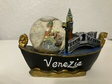 Decorative Collectable Snow Globe Mounted On A Ship 3-4 Inches From Venezia Itay