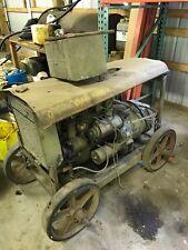Antique Military generator 4 cylinder flathead gas engine original cart As Is