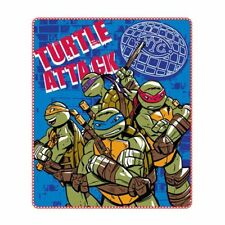 Plaid tartarughe ninja 120x140 cm. turtles attack *01563 pelusciamo store
