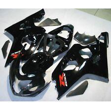 Black INJECTION ABS Plastic Fairing For SUZUKI GSX-R 600 750 GSXR600 750 04-05