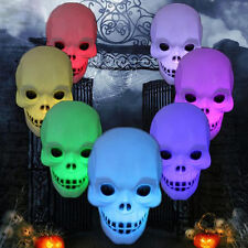 Skull Colorful Flash LED 7 Color Changing Night Light Table Lamp Decor Toy Gift
