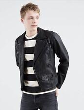 """Levi's Premium Genuine Black Cow Leather Moto Double Rider Jacket """"Perfecto"""" S"""