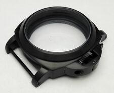 PVD Black watch case 44mm part stainless steel case fit ETA 6497 6498 movement 1