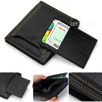 NEW Fashion Men PU Leather ID Credit Card Holder Bifold Wallet Purse Clutch - CB