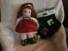 Precious Moments Doll Holly Christmas Stocking Doll 16 Inches