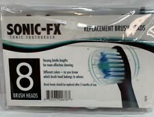 Sonic-FX Replacement Brush Heads 8-Pack Black