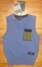 Aston Martin Baby Boys Blue V-Neck Wool Cashmere Sweater Vest 6m 6 months NWT