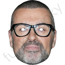George Michael New Version, Celebrity Singer Card Mask.All Our Masks Are Pre-Cut